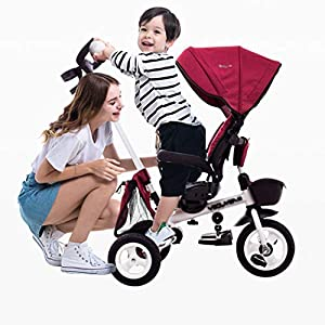 XHYX Children's tricycle, stroller 1-3-6 years old child folding baby bike portable with awning   13