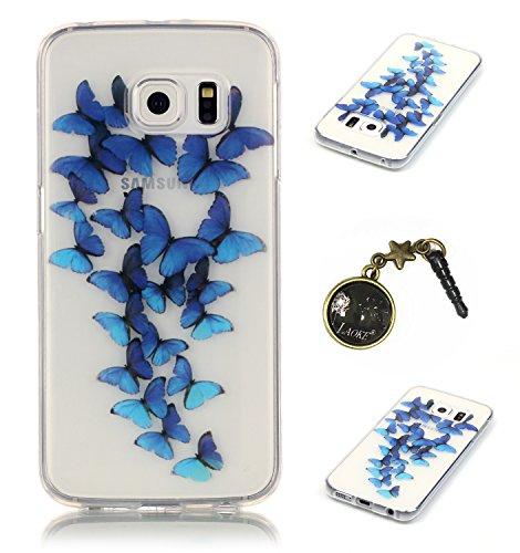 Preisvergleich Produktbild TPU Silikon Schutzhülle Handyhülle Painted pc case cover hülle Handy-Fall-Haut Shell Abdeckungen für Smartphone (Samsung Galaxy S6 Edge) +Staubstecker (5GG)