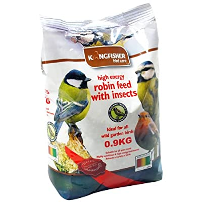 BIRD SEED ROBIN GARDEN FEED 0.9kg FRUIT BERRIES INSECTS & SUET ENERGY WILD FOOD from Kingfisher