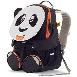 Affenzahn Kinderrucksack für 3-5 jährige Jungen und Mädchen im Kindergarten der große Freund Paul Panda - weiß, schwarz