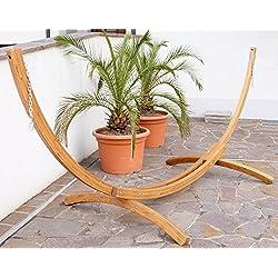 375 cm XXL Hamacas marco de madera (madera de alerce barnizada, sin hamaca) ASS BRAZIL-sólo el marco