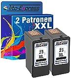 PlatinumSerie® 2x Druckerpatrone für Lexmark 23 XL Black X3500 X 4530 X4550 Z1410 Z1420 Z1450 Z4100