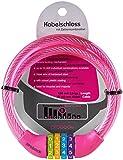 PROBOCK Kabelschloss für Kinderfahrrad Laufrad in Rosa | mit Zahlenkombination | Schloss Maße 10 x 650 mm | Edition 2018