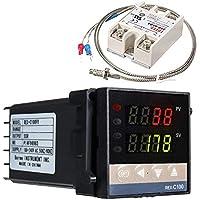 Regolatore di temperatura digitale REX-C100, 0 ℃ ~ 1300 ℃ allarme PID regolatore di temperatura Kit Digital Intelligente…