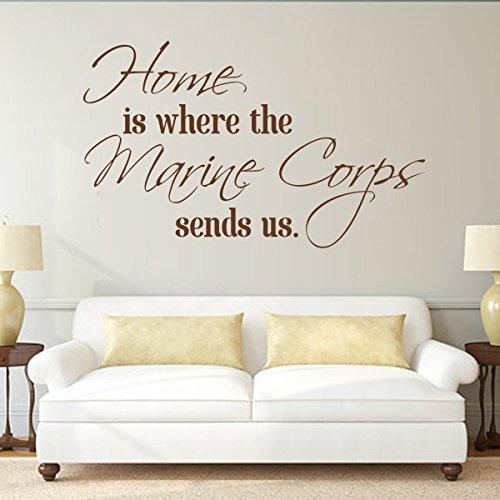 rine Corps sendet uns Wiederablösbare Decor Dekoration Home Aufkleber Zitate die Marine Corps Wand Vinyl Aufkleber Aufkleber, Vinyl, Custom, 35