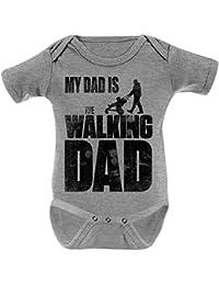 Mikalino Babybody My Dad is the Walking Dad kurzarm