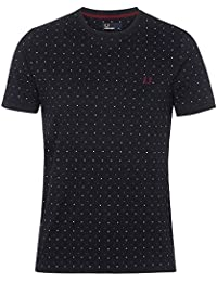 Tee Shirt Fred Perry Pois Marine Homme