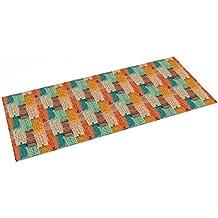 Printodecor - Alfombra Impresa con Diseño Orgánico, Retro Multicolor, ...