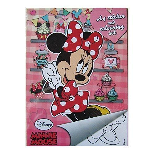 Guizmax album di disegni da colorare minnie mouse + adesivi disney a5
