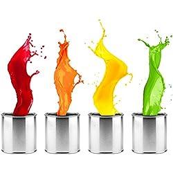 Metallschutzlack Metallfarbe Metalllack seidenmatt verschiedene Farben | Farbe für Metall Stahl Eisen Rohstahl für Innen und Außen | Metallbeschichtung für Tor, Zaun, Industrie Container | 5L, Rustikal Rot