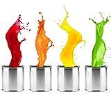 Metallschutzlack Metallfarbe Metalllack seidenmatt verschiedene Farben | Farbe für Metall Stahl Eisen Rohstahl für Innen und Außen | Metallbeschichtung für Tor, Zaun, Industrie Container | 1L, Tomatenrot