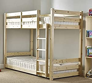 Heavy Duty - 3ft single solid pine bunkbed - VERY STRONG