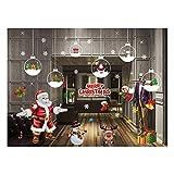 JIUHAO Weihnachts-statische Aufkleber Santa Christmas Schneemann Glaswand, Tür, Fenster, abnehmbare Tapete Aufkleber Aufkleber Home Shop Dekoration usw