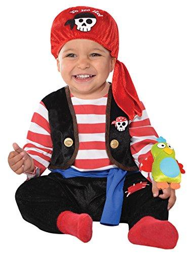 - Baby Karnevals Kostüm Baby Seeräuber , Mehrfarbig, Größe 80-, 1- Jahre (Niedlich, Einfach, Gruppe Halloween-kostüme)