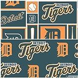 MLB Detroit Tigers Baumwollstoff - 1,27 m - 2 Stück