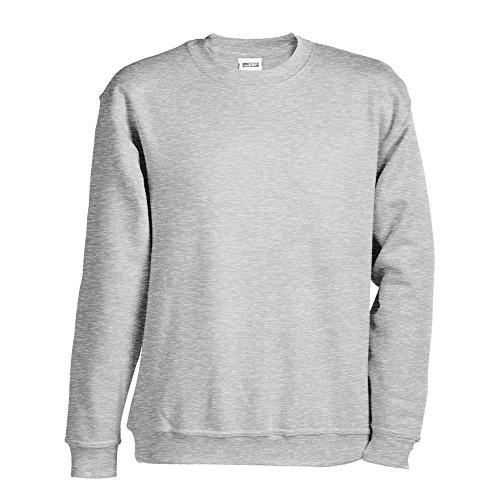 James & Nicholson Jungen Sweatshirt Sweatshirt Round Sweat Heavy Junior Grey Heather