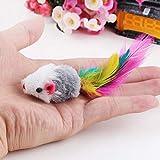 Ruluti 1 Gatto Pc Giocattoli False Mouse Interactive Mini Funny Animal Giocare Giocattolo per Gatto Gattino @ 02