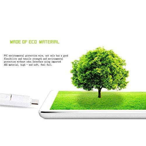 Owikar misura universale retrattile cavo di sincronizzazione dati righello, design cavo USB con 8pin scala e BMI funzioni per iPhone x/8/8Plus/7/7Plus/6/6S/6Plus e Samsung S7S6S5H