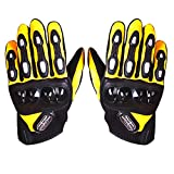 #10: Probiker MCS-15 Metal Protection Bike Riding Gloves Set of 2 Black and Yellow-XL