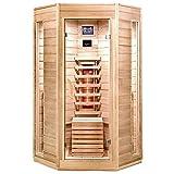Home Deluxe – Infrarotkabine – Nova – Vollspektrumstrahler – Holz: Hemlocktanne - Maße: 100 x 100 x 200 cm – inkl. vielen Extras und komplettem Zubehör