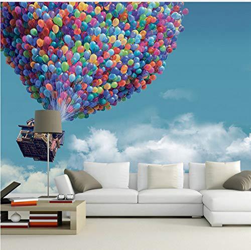 röße Blauer Himmel Weiße Wolken Fliegen Ballon Fototapete Für Schlafzimmer Wohnzimmer Dekor Hohe Qualität Vlies 3D Tapete Möbeldekoration (W)400x(H)280cm ()