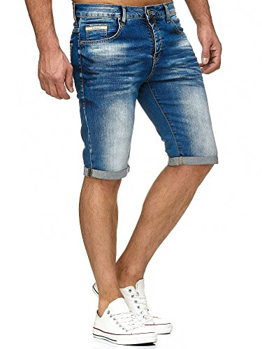 Red Bridge Herren Jeans Short Kurze Hose Denim Basic Blau W30 -
