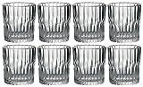 Duralex Manhattan Whisky Tumbler von 8x 220ml/7.8oz klare Gläser rund Moderner Designer Glaswaren schwere Bodenplatte Glas Old Fashioned Scotch Bourbon Whisky Spülmaschinenfest und mikrowellengeeignet Made in Frankreich