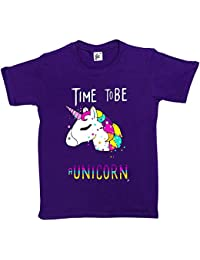 Fancy A Snuggle Time To Be A Unicorn Magic Stars and Rainbow Mane Kids Girls T-Shirt