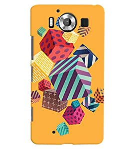 ColourCrust Microsoft Lumia 950 Mobile Phone Back Cover With Abstract Style Modern Art - Durable Matte Finish Hard Plastic Slim Case