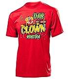 Clown Kostüm Herren T-Shirt Shirt Clownskostüm Männer 4483 Karneval Fasching Faschingskostüm Karnevalskostüm Paarkostüm Gruppenkostüm Rot L