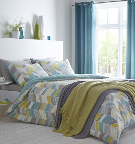 chevron-stripes-duck-egg-blue-grey-cotton-blend-single-duvet-cover