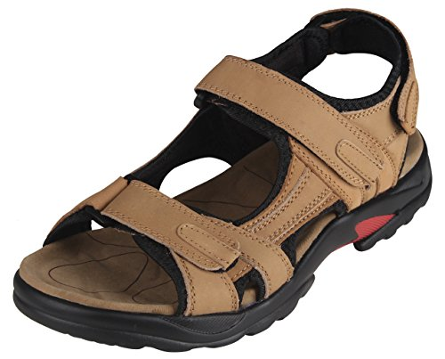 Sandales Cuir Homme Taille 45 Sabot Sportif Summer Shoes,Kaki Sandale de Plein air