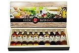 Geschenk Probierset Essig hochwertige Schachtel 10 Flaschen je 40ml Set 1