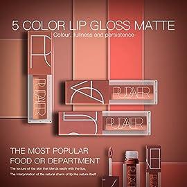 5 Couleurs Maquillage Waterproof à Lèvres Mat Liquide Beauté Brillant Rouge à Lèvres Lip Gloss Liquid Matte Longue Tenue…