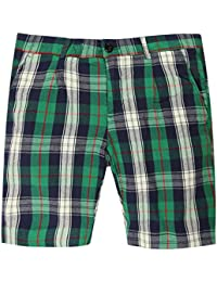 Gant Rugger Hommes Shorts Vert/Bleu R.1. Pleated Oxford 1201-021362-323