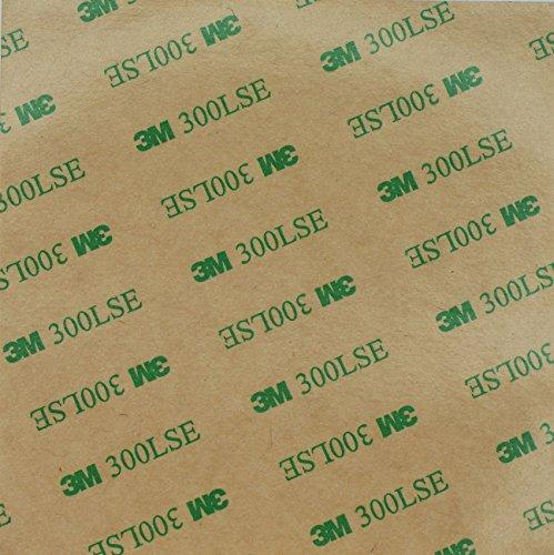 300LSE Acrylstreifen, 3M, doppelseitig klebend, 100x 100x 0,17mm dick, zur Reparatur von LCD-Displays/Heimwerken/Basteln, farblos
