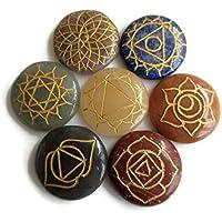 Set 7Chakra Steine mit Symbolen rund, spirituelle Heilung Stein Kit, natürliches Multi Edelstein Heilstein und... preisvergleich bei billige-tabletten.eu