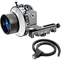 eimo Pro DSLR Follow Focus With Gear Ring Belt for DSLR cameras and Camcorders (F4 With Two Hard Stops)