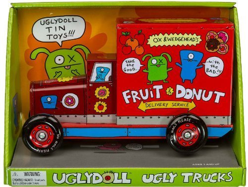 ech Ox & Wedgehead's Donut Delivery Truck LKW, rot (Ugly Doll Ox)