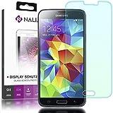 NALIA Schutzglas für Samsung Galaxy S5 / S5 Neo, 2.5D Full-Cover Displayschutz Handy-Folie, 9H gehärtete Glas-Schutzfolie Bildschirm-Abdeckung, Schutz-Film HD Screen Protector Glass - Transparent
