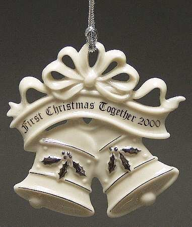 Lenox 2000 1st First Christmas Together Tree Ornament Bells by Lenox
