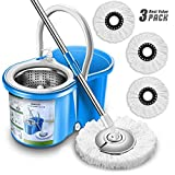 Best Spin Mops - New Upgraded Stainless Steel Deluxe Microfiber 360 Spin Review
