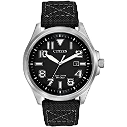 Citizen AW1410-08E Solar Powered Men's Quartz Watch - Black
