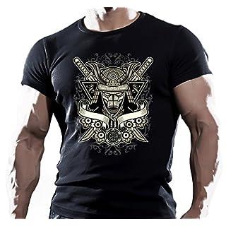 Arubas-uk The King Samurai Herren T-Shirt, MMA-Motiv, Motivations-T-Shirt, UFC-Design, Muay-Thai-Design - M - schwarz