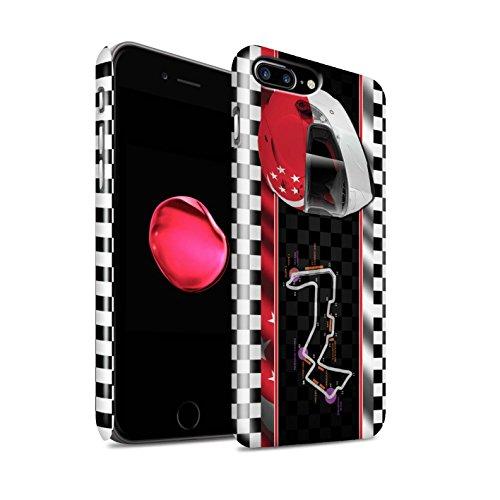 STUFF4 Glanz Snap-On Hülle / Case für Apple iPhone 8 Plus / Ungarn/Budapest Muster / F1 Piste Flagge Kollektion Singapur