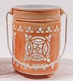 Von Kaemingk 19,1cm L 'EAU de Fleur Bright Orange Ausschnitt Votivkerze Laterne