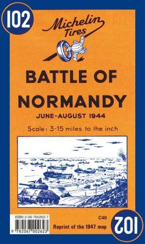 Carte historique : Bataille de Normandie, N° 102 (Maps/Historical (Michelin)) -