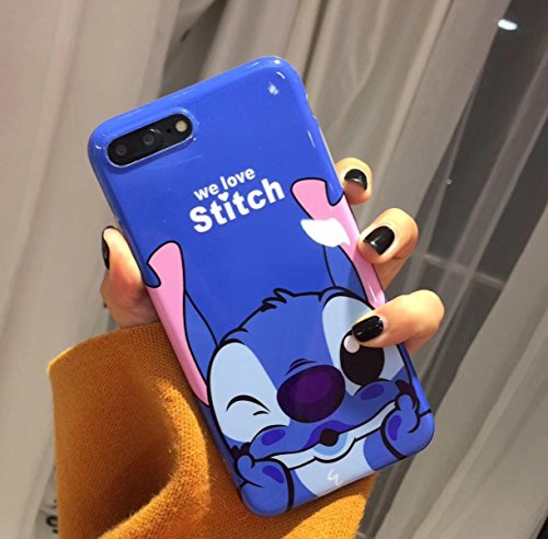 Disney Minnie & Seven Dwarfs Weiche, transparente TPU-Handyhülle for iPhone 6, iphone7, 7plus & 8plus (iPhone 7PLUS / 8PLUS, Stitch 2)