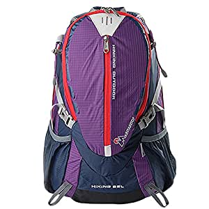 Camping Backpack Running Backpack Cycling Rucksack Waterproof Lightweight Backpack 40L 30L 25L Bag(25L,Purple)