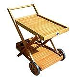Papillon 8043050Blumenkasten mit Gitter und Rollen, aus Holz